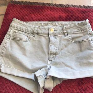 American Eagle  grey denim shorts Sz10